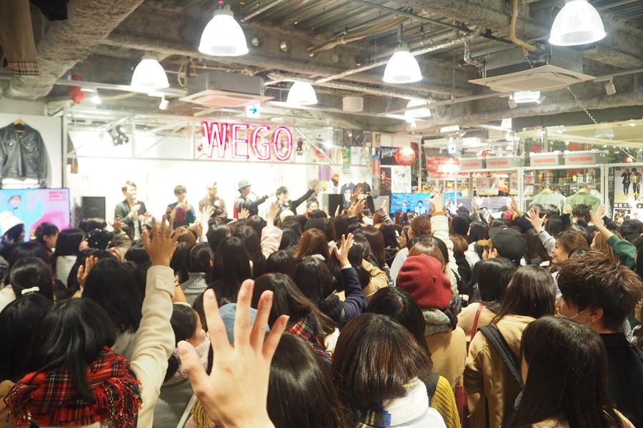 約300人のファンが集まった「WEGO心斎橋店」リニューアルオープンイベント