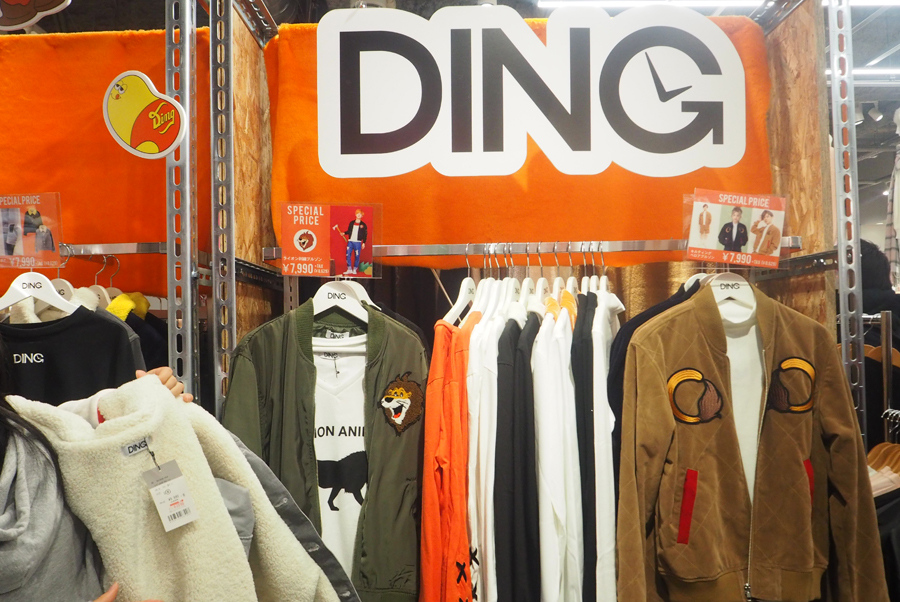 こんどうプロデュースのブランド「DING」の展開は関西では「WEGO心斎橋店」のみ