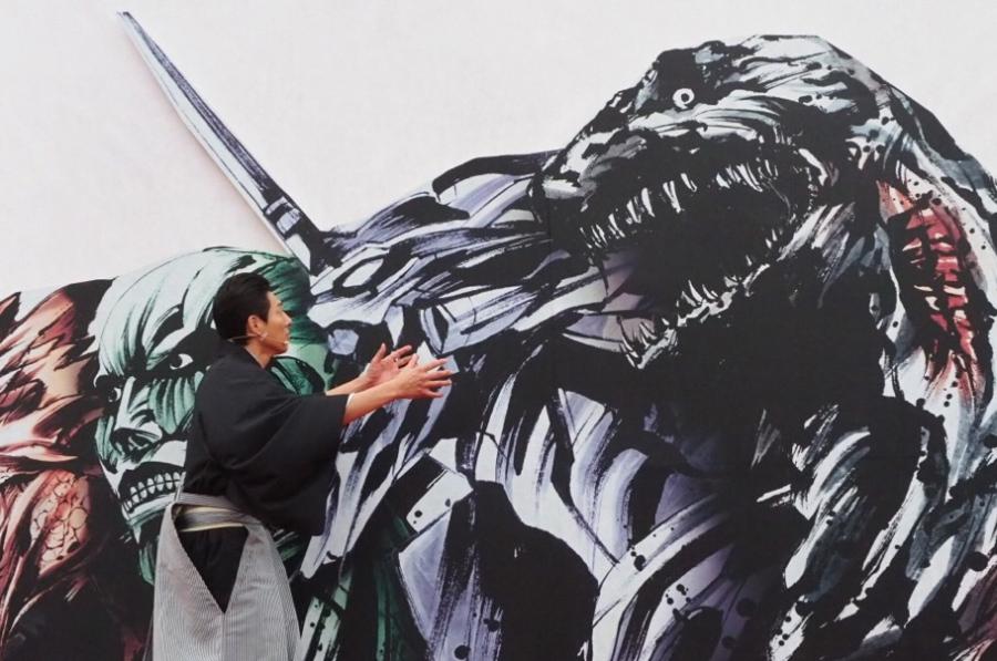 事前に体験した松岡修造も「お前は最強だ!!」とパネルのゴジラに熱い想いを伝えていた