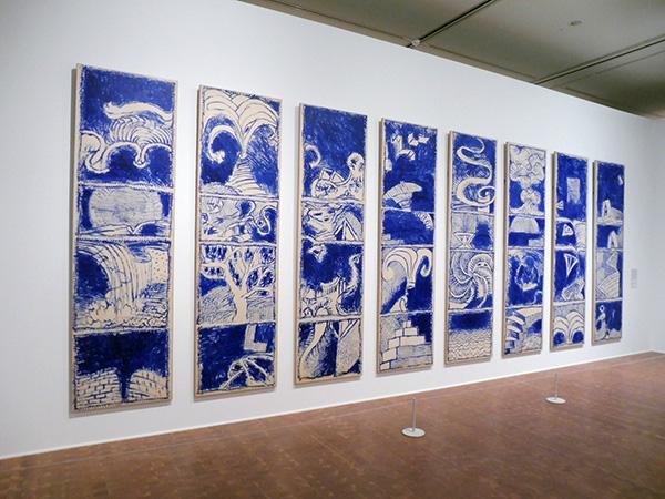 《ボキャブラリー Ⅰ〜Ⅷ》 1986年 アクリル絵具、キャンバスで裏打ちした紙 作家蔵/国立国際美術館(大阪市北区)にて、4月9日まで