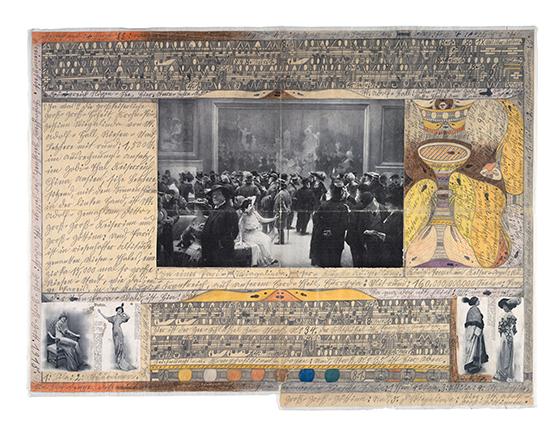 《パリの=美術=展覧会にて》 1915年 ベルン美術館 アドルフ・ヴェルフリ財団蔵 © Adolf Wölfli Foundation, Museum of Fine Arts Bern(兵庫県立美術館にて、1月11日より)