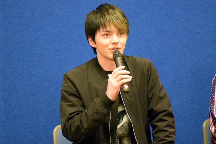 3月放映のドラマ『アオゾラカット』で、西成生まれの美容師の息子を演じる林遣都(21日・大阪市)