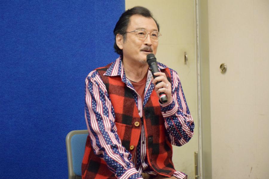 大阪市西成区が舞台のドラマに出演する吉田鋼太郎。公式プロフィールでは特技が「大阪弁」とある(21日・大阪市)