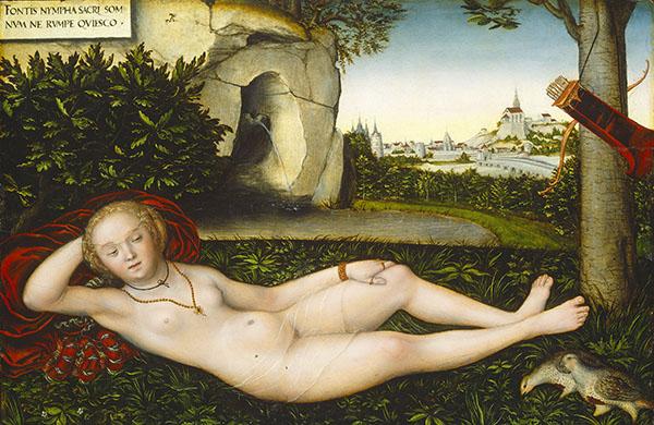 ルカス・クラーナハ(父)《泉のニンフ》 1537年以降 ワシントン・ナショナル・ギャラリー © Courtesy National Gallery of Art,washington/『クラーナハ展 500年後の誘惑』@国立国際美術館、1月28日より