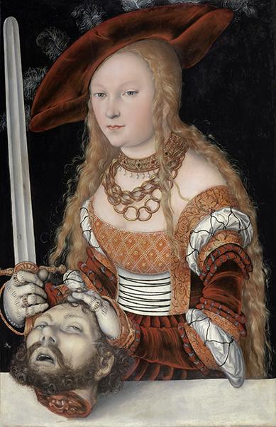 ルカス・クラーナハ(父)《ホロフェルネスの首を持つユディト》 1525/30年頃 ウィーン美術史美術館 © KHM-Museumsverband/『クラーナハ展 500年後の誘惑』@国立国際美術館、1月28日より
