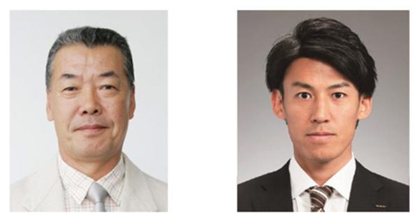 福本豊さん(左)と、ABCの高野純一アナ