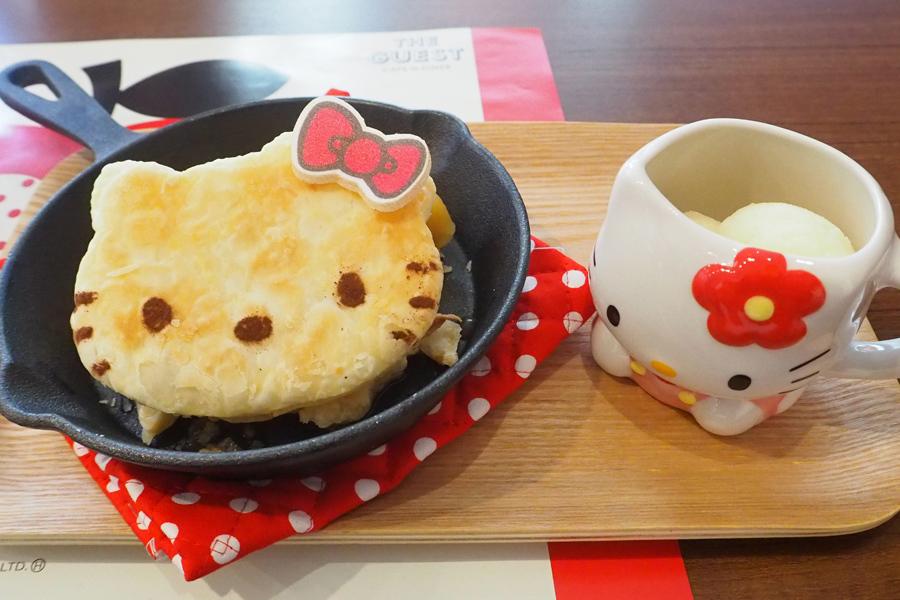 「復刻!ハローキティのアツアツ鉄板アップルパイ」オリジナルマグカップ付き 1598円