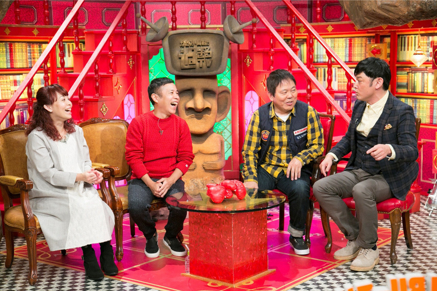 (左から)なるみ、岡村隆史、ほんこん、シャンプーハットてつじ (C)ABC