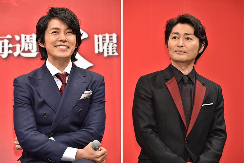 ドラマ『嘘の戦争』で兄弟役を演じる藤木直人(左)と安田顕