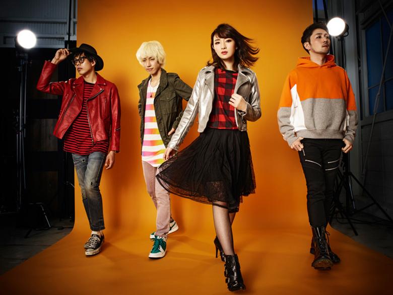 岸野が結成したバンド「Over The Top」(左から坂本夏樹、永見和也、岸野里香、田中裕基)