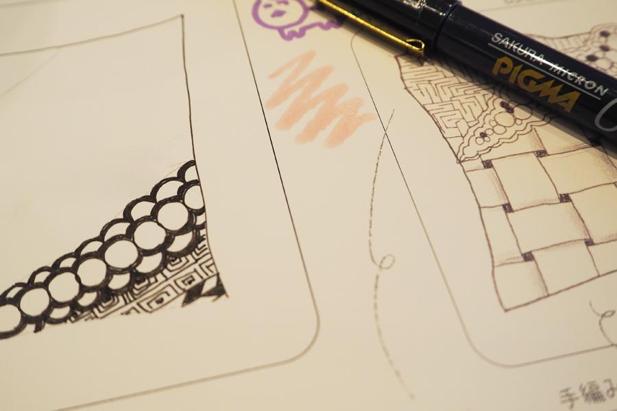 パターンを繰り返し描く「ゼンタングル」は初めてでもうまく描けるので夢中になっちゃいます