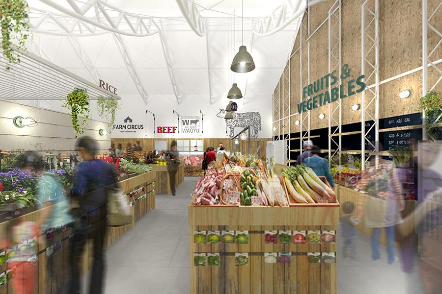 神戸ビーフをはじめとする神戸の名産品が揃う「FARM CIRCUS」直売所(イメージ)