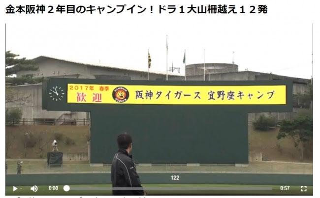 デイリースポーツが阪神タイガース1軍による春季キャンプの模様を2月1日から無料で動画を配信