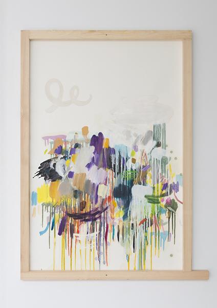 牡丹靖佳「LD」(2015年)油彩、鉛筆、ジェッソ、クレパス、紙 ※参考作品