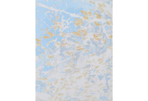 吉岡千尋「muqamas 16」(2016)油彩、蜜蝋、金属粉、キャンバス
