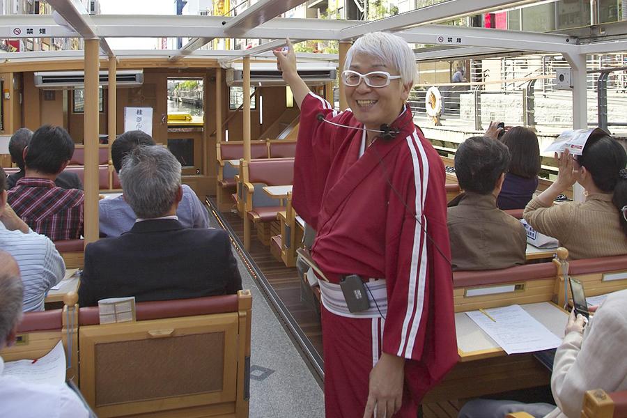 「一本松海運」は落語家のおもしろガイド付きクルーズを無料に
