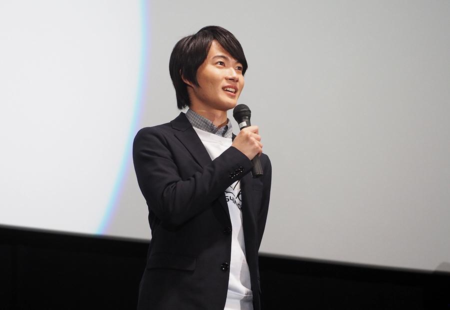主演映画『3月のライオン』の舞台挨拶に登場した神木隆之介(28日・大阪市内)