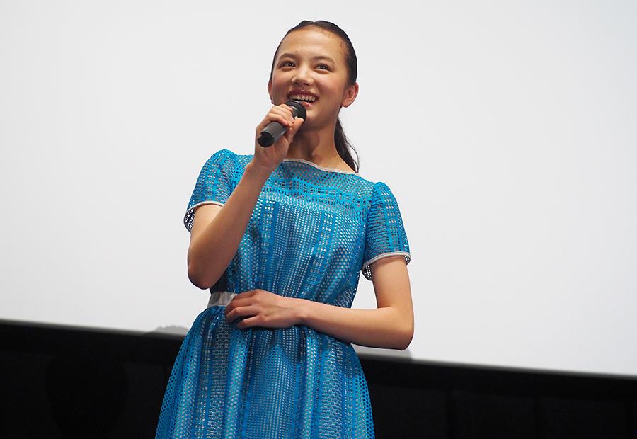 映画『3月のライオン』で川本家の次女ひなたを熱演した清原果耶(28日・大阪市内)