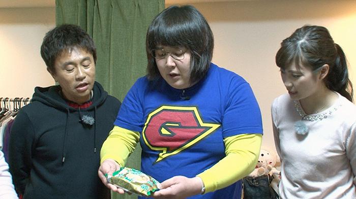 左から浜田、ガリガリガリクソン、玉巻映美MBSアナウンサー(毎日放送『ケンゴロー』)