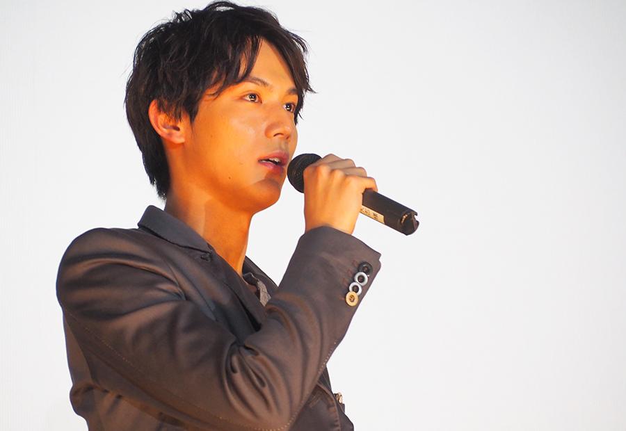 劇中の胸キュンセリフの関西弁バージョンを披露した中川大志(10日・大阪市内)