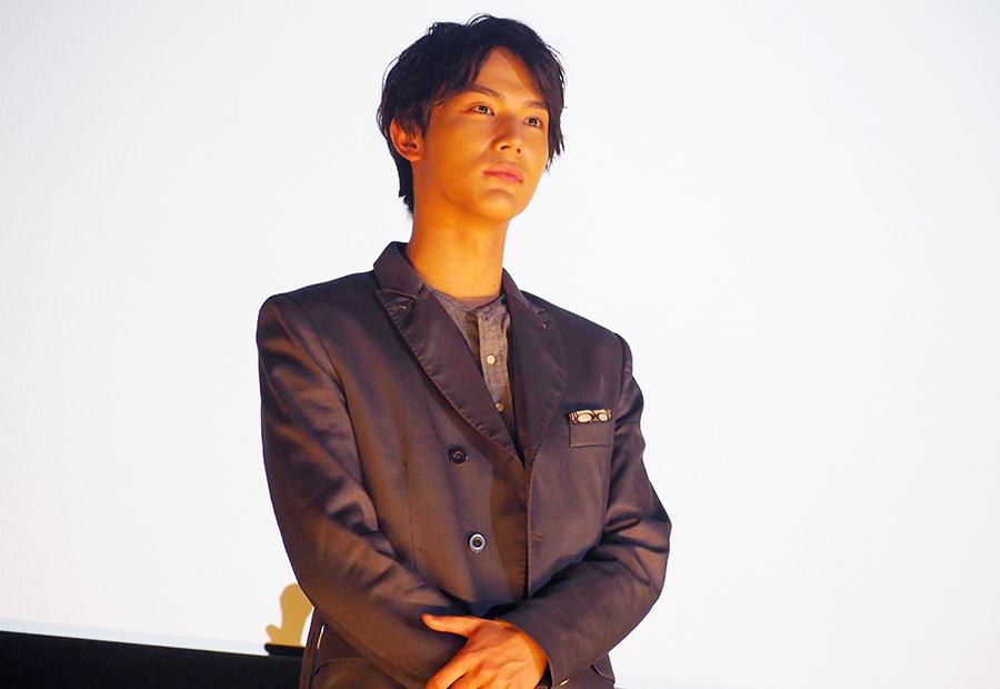 主演映画『きょうのキラ君』の舞台挨拶に登場した中川大志(10日・大阪市内)