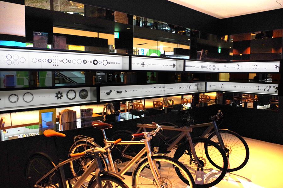 自転車部品のシェア率世界一の同社。各パーツの構造がひと目でわかる