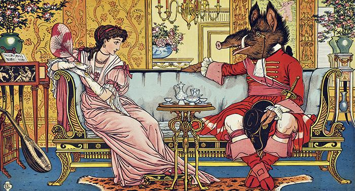 ウォルター・クレイン(絵)『美女と野獣』 1874年