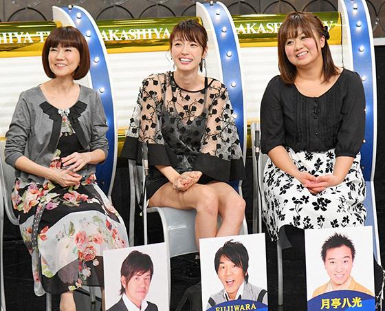 左から松本伊代(ヒロミ夫人)、木下優樹菜(FUJIWARA藤本夫人)、寺脇志乃さん(月亭八光夫人)