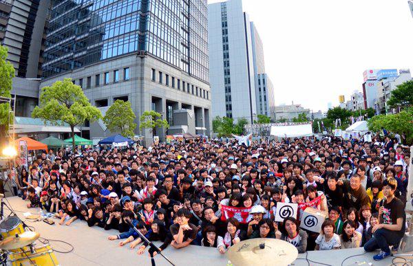 昨年「堺市役所前広場」で開催されたときの様子