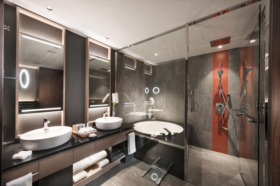「デラックスルーム」バスルーム