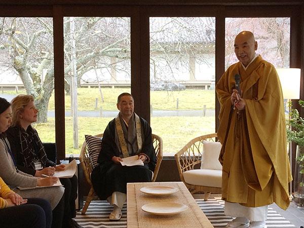 「さまざまな京都文化体験を発信する『ダイゴジ・プロジェクト』を推進しています」と総本山醍醐寺座主の仲田順和僧正