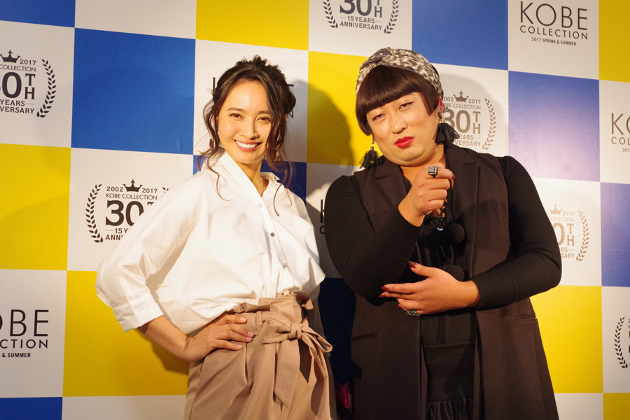 同ステージで共演した加藤夏希とYOKO FUCHIGAMI