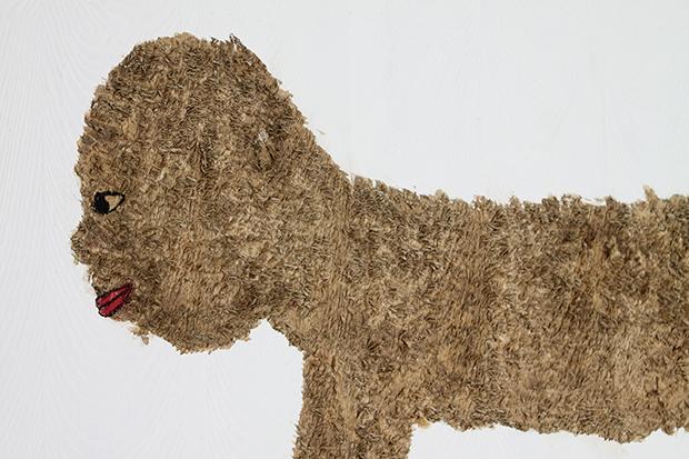 木村充伯《祖先》(部分) 2016年 毛が生えるパネルに油彩 685x845x46mm 写真/タン・ルイ (c)Mitsunori KIMURA