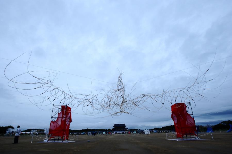 三橋玄 過去の作品より 2014年 奈良平城宮天平祭「朱雀」