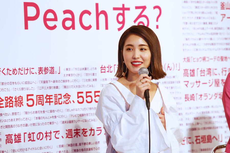トークセッションに登場したファッションモデルの森暖奈は、「〆は福岡で博多ラーメン」チケットを実行すると話した