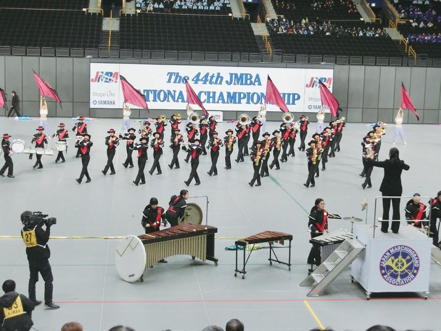 イベントで演奏を披露する「堺市立三原台中学校」吹奏楽部
