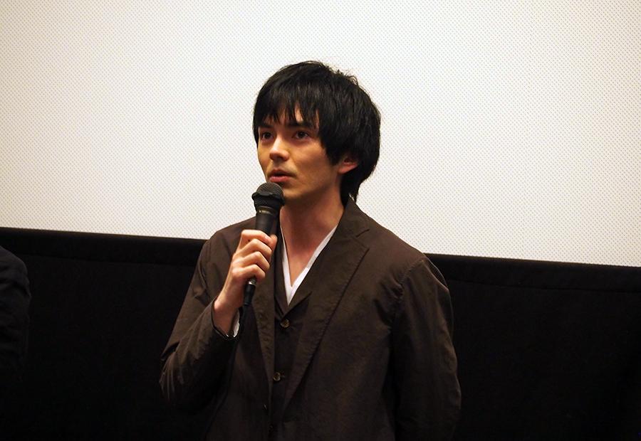 主演映画『しゃぼん玉』の舞台挨拶に登場した林遣都(25日・大阪市内)