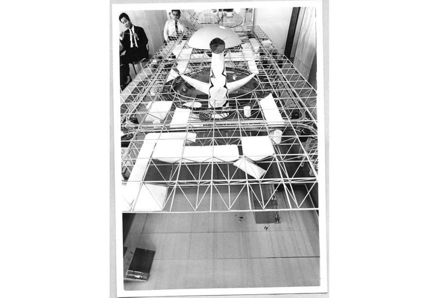 お祭り広場模型写真 画像提供:大阪府日本万国博覧会記念公園事務所