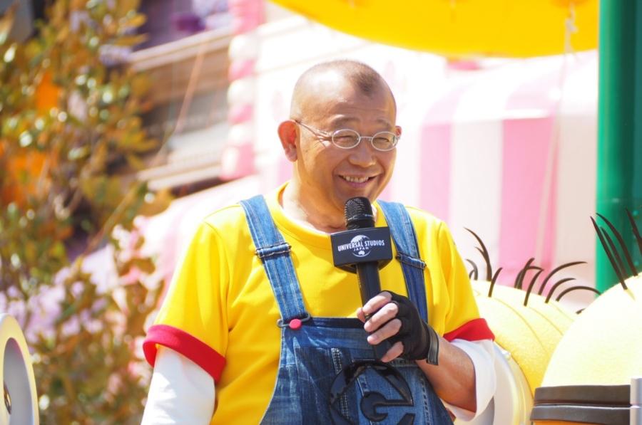 「ミニオン・パーク」について笑顔でコメントする笑福亭鶴瓶(19日・ユニバーサル・スタジオ・ジャパン)