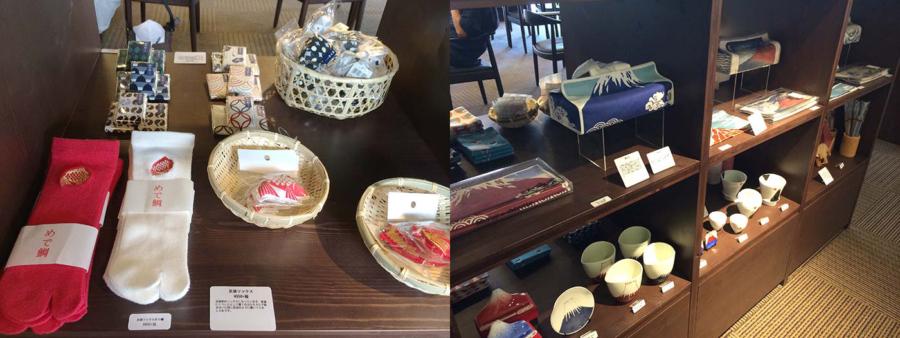 雑貨棚には、京都らしい和小物・和雑貨がスタンバイ
