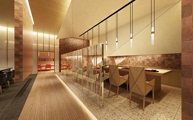 コンラッド大阪の「蔵ー鉄板焼&寿司」店内イメージ