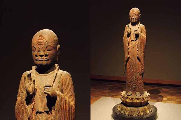 《宝誌和尚立像》平安時代(11世紀)京都・西往寺