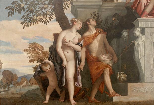 パオロ・ヴェロネーゼ《息子アンテロスをユピテルに示すヴィーナスとメルクリウス》 1560-65年 ウフィツィ美術館 © Gabinetto Fotografico delle Gallerie degli Uffizi