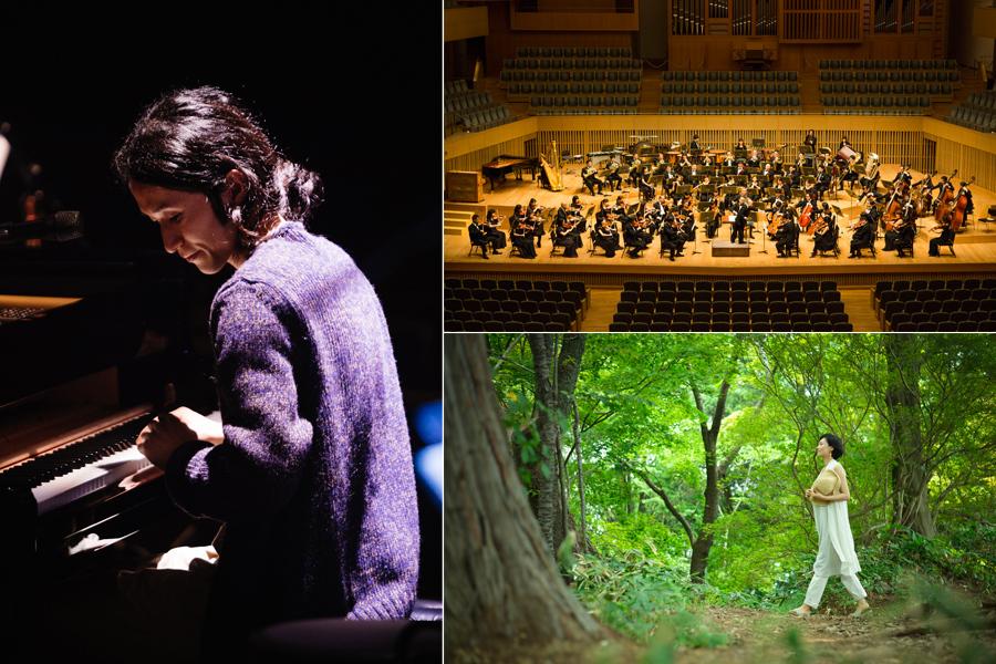 高木正勝(左)と京都市交響楽団のコラボ、ゲストにアン・サリーが登場
