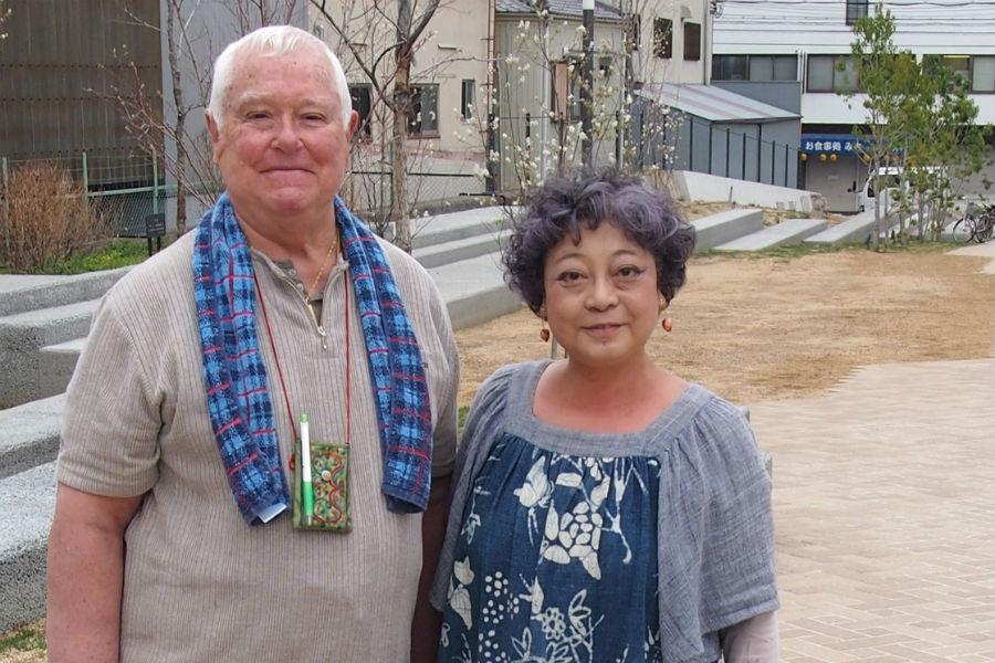 川の自然も復活したと喜ぶ地元在住のご夫婦