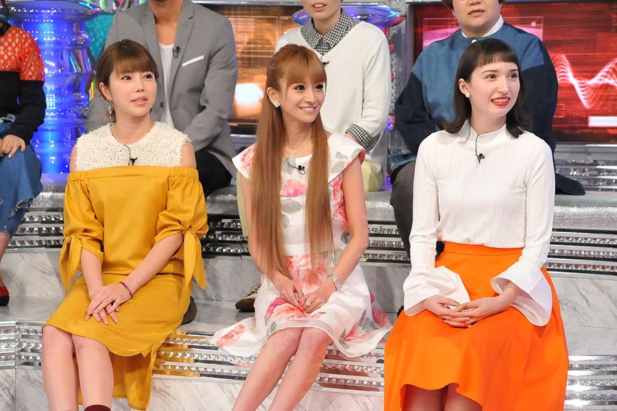 美人セレブSPに登場した住谷杏奈、愛沢えみり、斉藤アリス(左から)