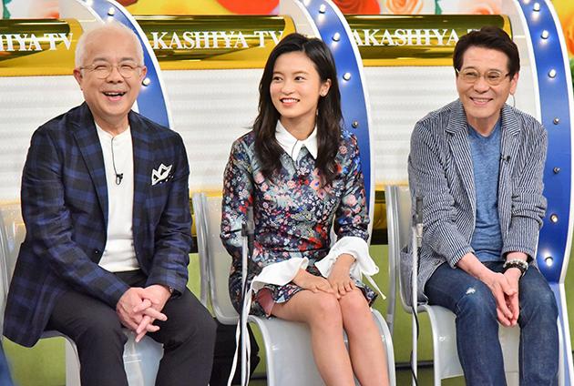 左から、小堺一機、小島瑠璃子、ピーコ(毎日放送『痛快!明石家電視台』)