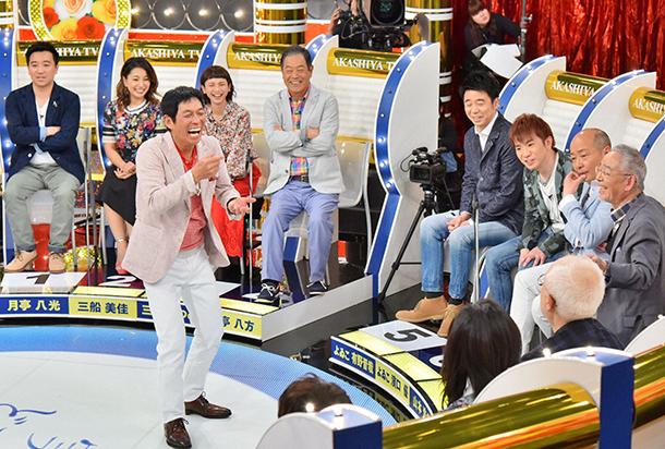 大阪にレギュラー番組を持つゲストたちから、さまざまな大阪のテレビの裏話が飛び出す(毎日放送『痛快!明石家電視台』)