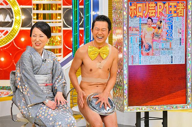 アキラ100%の奥さま、雅美さんは、さんまに会うからと着物で登場(毎日放送『痛快!明石家電視台』)