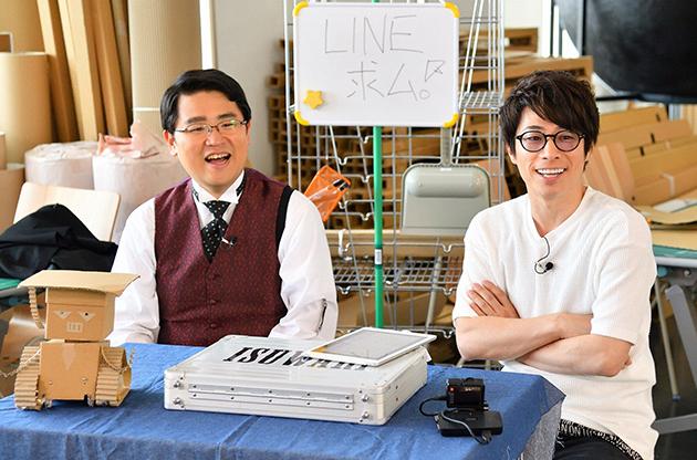 左から、福島暢啓アナウンサー、田村淳(ロンドンブーツ1号2号)